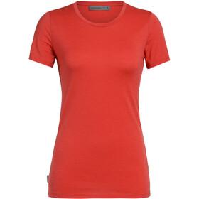 Icebreaker Tech Lite T-shirt Col ras-du-cou Bas Femme, fire